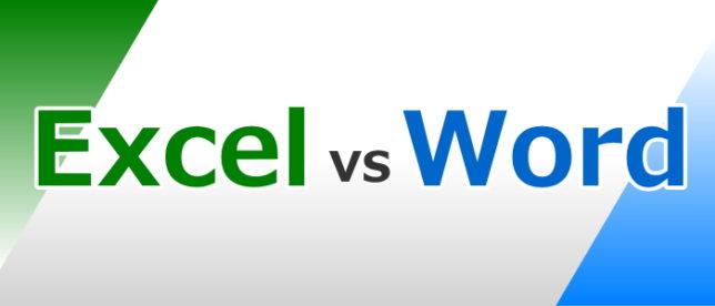 Excel vs Word